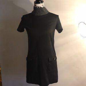 Black Zara turtleneck minidress